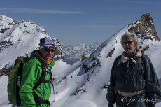 Matterhorn and Monte Rosa in the background